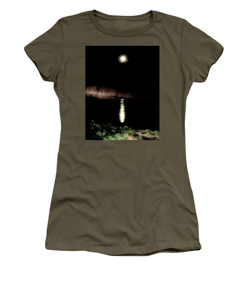 Full Moon Over Piermont Creek Women's T-Shirt