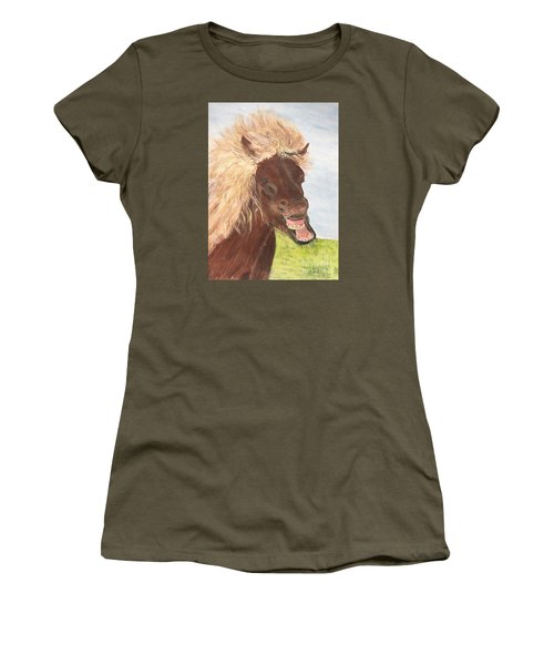 Funny Iceland Horse Women's T-Shirt (Athletic Fit)