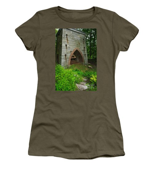 Furnace Of Mine Hill - Historic Iron Blast Furnace Women's T-Shirt