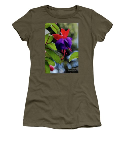Fuschia Women's T-Shirt (Athletic Fit)