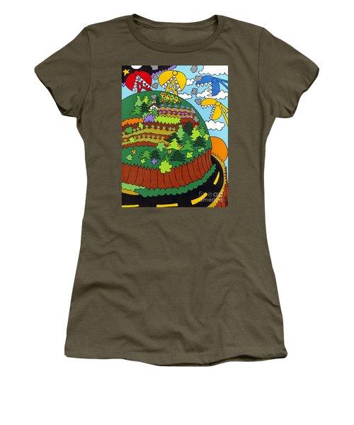 Future Development A Women's T-Shirt (Junior Cut) by Rojax Art