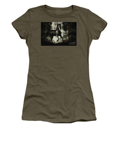 Galloping Horse Artwork Women's T-Shirt