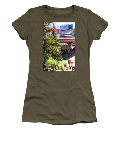 Women's T-Shirt (Junior Cut) featuring the photograph Game Day In Athens by Parker Cunningham