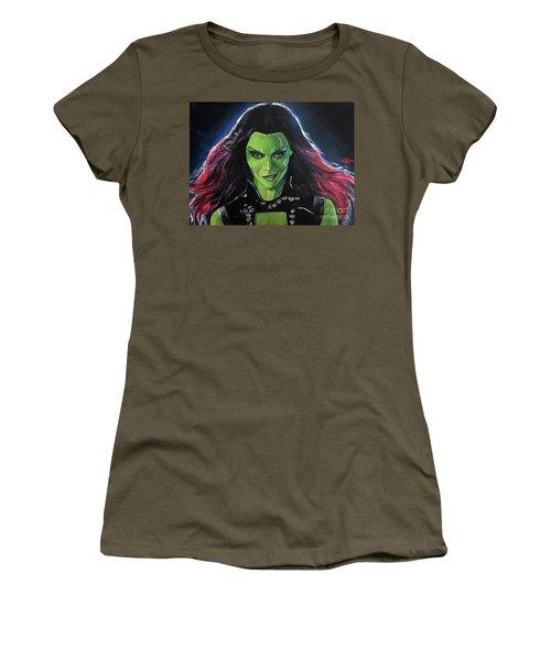 Gamora Women's T-Shirt (Junior Cut) by Tom Carlton