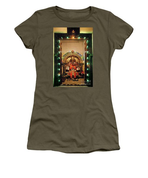 Women's T-Shirt (Athletic Fit) featuring the photograph Ganesh Shrine by Granger