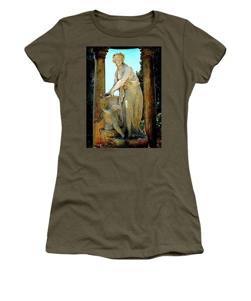 Women's T-Shirt (Junior Cut) featuring the photograph Garden Goddess by Lori Seaman