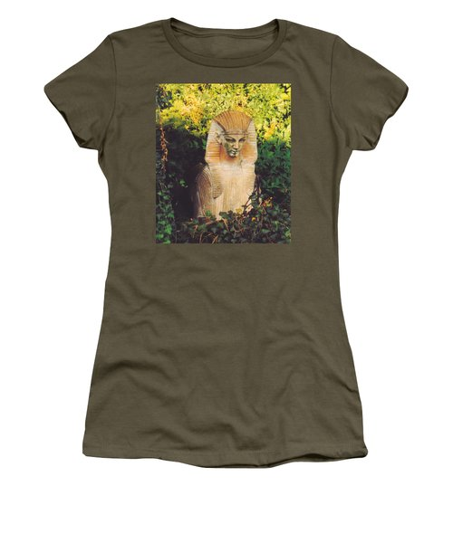 Women's T-Shirt (Junior Cut) featuring the photograph Garden Guardian by Jan Amiss Photography