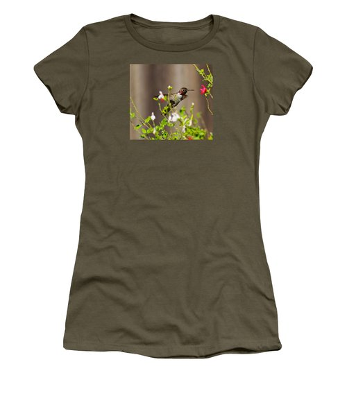 Garden Hummingbird Women's T-Shirt (Athletic Fit)