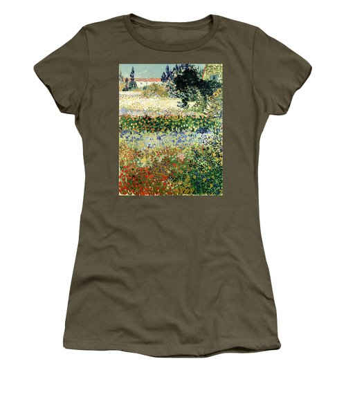Women's T-Shirt featuring the painting Garden In Bloom by Van Gogh