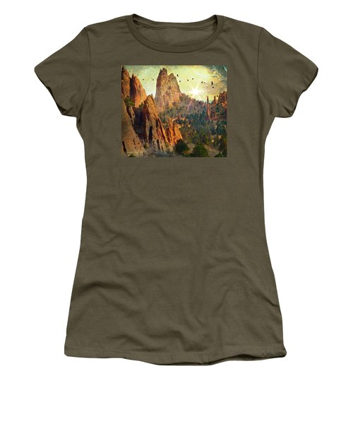 Garden Of The Gods Women's T-Shirt (Athletic Fit)