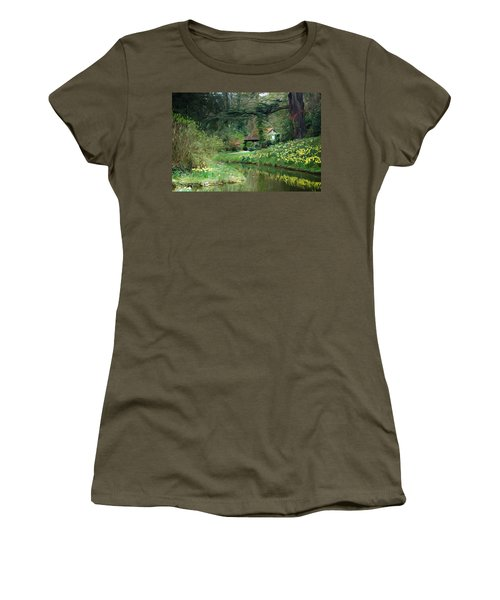 Garden Pond Women's T-Shirt (Athletic Fit)