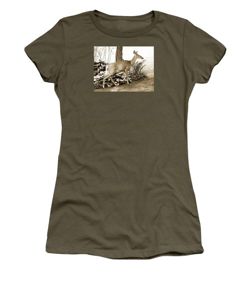 Women's T-Shirt (Junior Cut) featuring the photograph Garden Visitor by Betsy Zimmerli