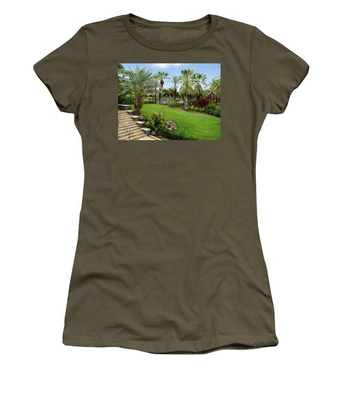 Gardens At Mount Of Beatitudes Israel Women's T-Shirt
