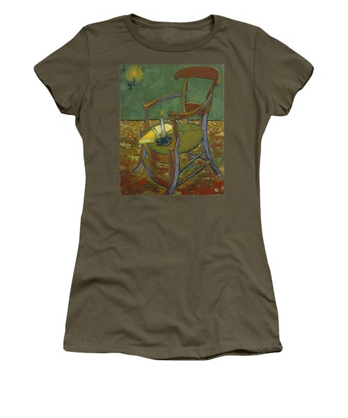 Women's T-Shirt featuring the painting Gauguin's Chair by Van Gogh
