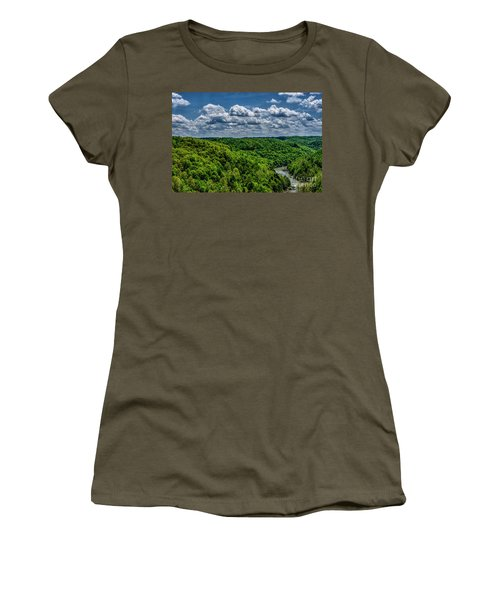 Gauley River Canyon And Clouds Women's T-Shirt