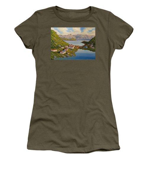 Gaultois Village Newfoundland Women's T-Shirt