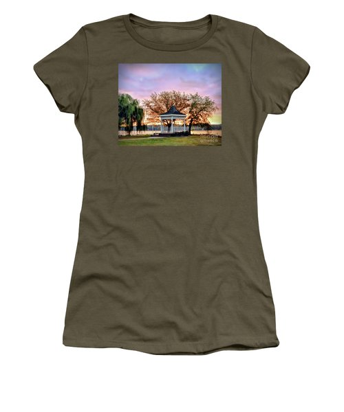 Gazebo Sunrise At Claytor Lake Women's T-Shirt