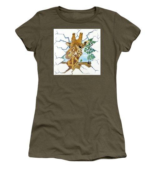 Gazing Giraffe Women's T-Shirt