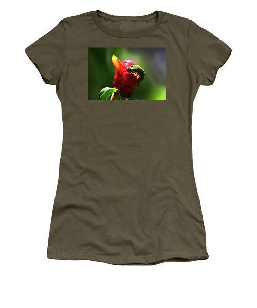 Women's T-Shirt (Junior Cut) featuring the photograph Gecko #1 by Anthony Jones
