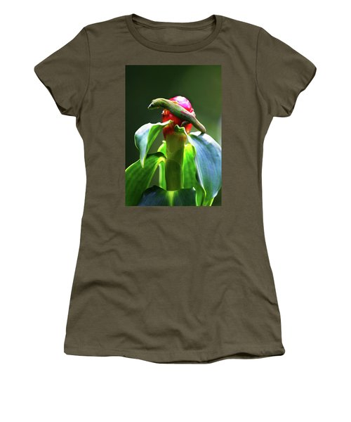 Women's T-Shirt (Junior Cut) featuring the photograph Gecko #3 by Anthony Jones
