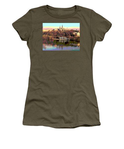 Georgetown University Crew Team Women's T-Shirt (Junior Cut) by Charles Shoup