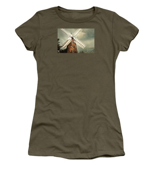 Women's T-Shirt (Athletic Fit) featuring the photograph Georgian Stone Windmill  by Jorgo Photography - Wall Art Gallery