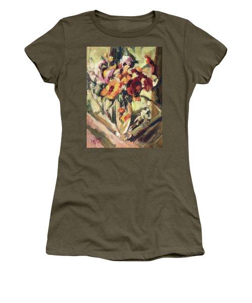 Gerberas In Glass Vase Women's T-Shirt (Athletic Fit)
