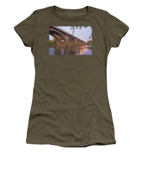 Gervais Bridge Women's T-Shirt (Junior Cut) by Steven Richardson