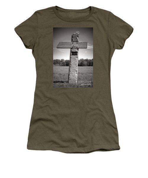 Gettysburg National Park 142nd Pennsylvania Infantry Monument Women's T-Shirt
