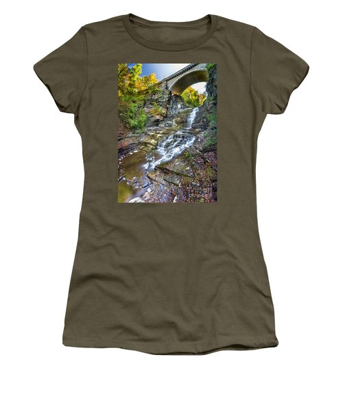 Giant's Staircase Under College Avenue Bridge Women's T-Shirt (Athletic Fit)