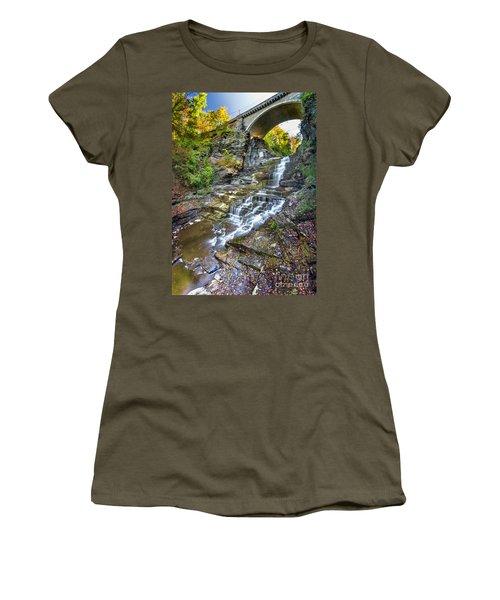 Giant's Staircase Under College Avenue Bridge Women's T-Shirt (Athletic Fit)