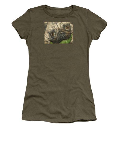 Women's T-Shirt (Junior Cut) featuring the painting Gidget by Cherise Foster