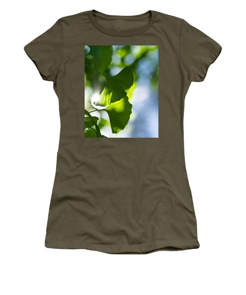 Gingko Leaves In The Sun Women's T-Shirt (Athletic Fit)