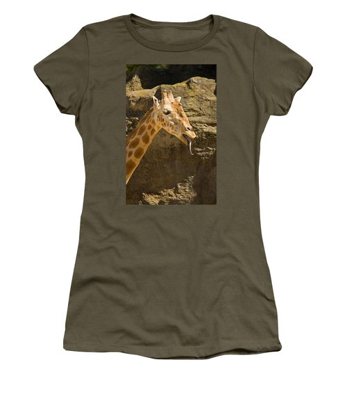 Giraffe Raspberry Women's T-Shirt