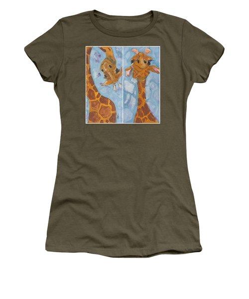Giraffe Set Women's T-Shirt (Junior Cut) by Terri Einer