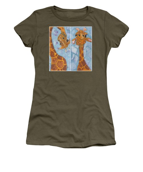 Giraffe Set Women's T-Shirt (Athletic Fit)