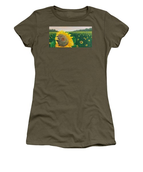 Women's T-Shirt (Junior Cut) featuring the painting Giver Of Life by Susan DeLain