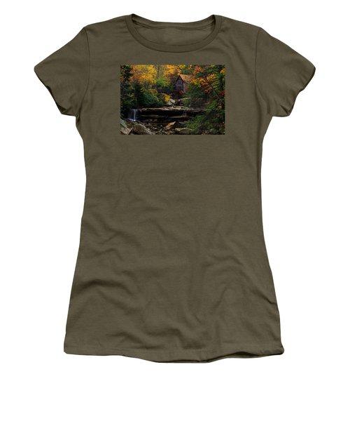 Glades Creek Grist Mill West Virginia Women's T-Shirt