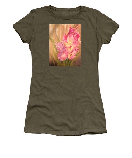 Gladiolas Women's T-Shirt (Junior Cut) by Sherril Porter