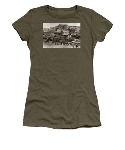 Glen Lyon Pa Susquehanna Coal Co Breaker Late 1800s Women's T-Shirt