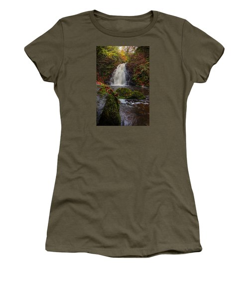 Gleno Falls Portrait View Women's T-Shirt (Athletic Fit)