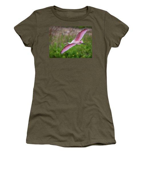 Gliding Spoonbill Women's T-Shirt
