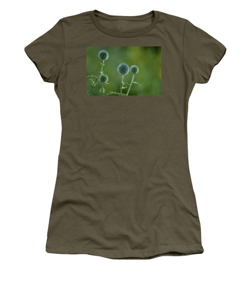 Globe Thistles Echinops Women's T-Shirt (Athletic Fit)
