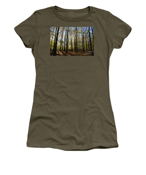 Women's T-Shirt (Athletic Fit) featuring the photograph Glorious Forest by Kennerth and Birgitta Kullman