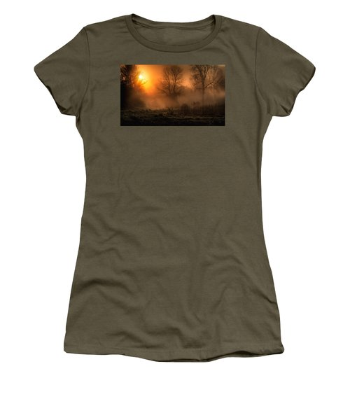 Glowing Sunrise Women's T-Shirt (Athletic Fit)