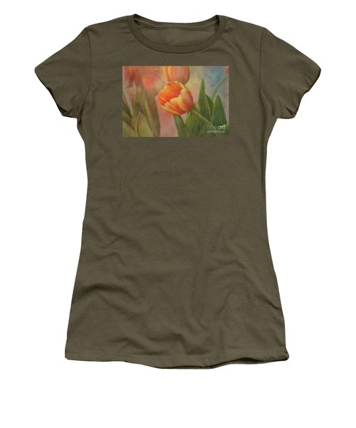Glowing Tulip Women's T-Shirt (Athletic Fit)