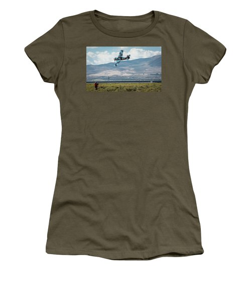Women's T-Shirt featuring the photograph Go Fast Turn Left Fly Low Friday Morning Unlimited Bronze Class by John King