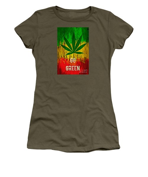 Go Green Women's T-Shirt (Athletic Fit)