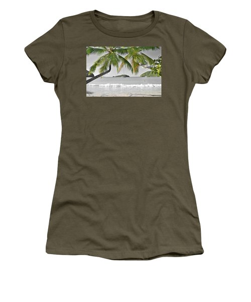 Women's T-Shirt (Junior Cut) featuring the photograph Going Green To Save Paradise by Frozen in Time Fine Art Photography