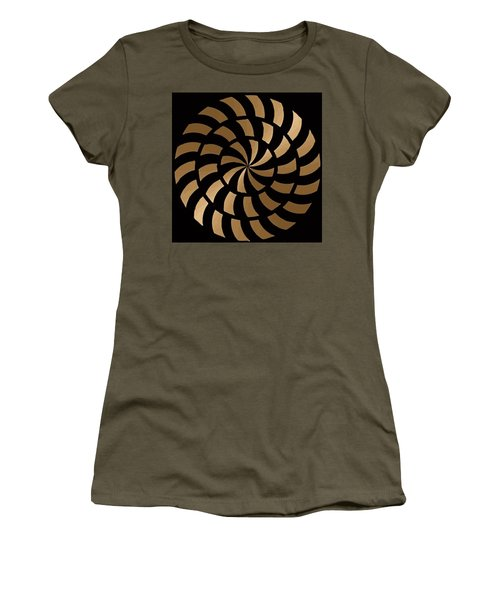 Gold And Black Ny Design Women's T-Shirt (Athletic Fit)